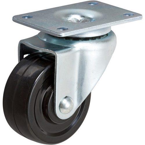 """SWIVEL - 3''x 1-1/4"""" Light Medium Duty Swivel Caster with a Hard Rubber wheel"""