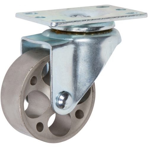 "SWIVEL - 3""x 1-1/4"" Light Medium Duty Swivel Caster with a Steel wheel"