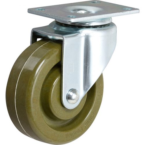 "4''x 1-1/2"" Bakery Swivel Caster with a Fever-Tech Hi-Temperature Wheel"