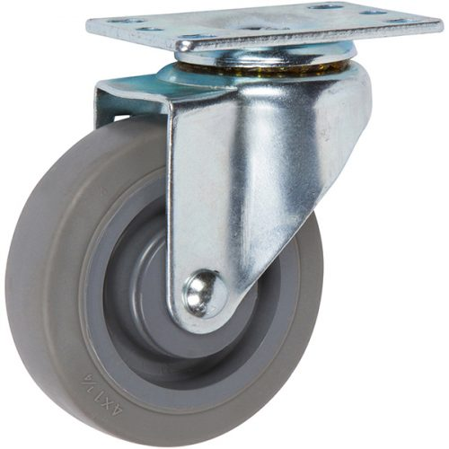 "SWIVEL - 4''x 1-1/4"" Light Medium Duty Swivel Caster with a Non-marking Thermoplastic Rubber Wheel"