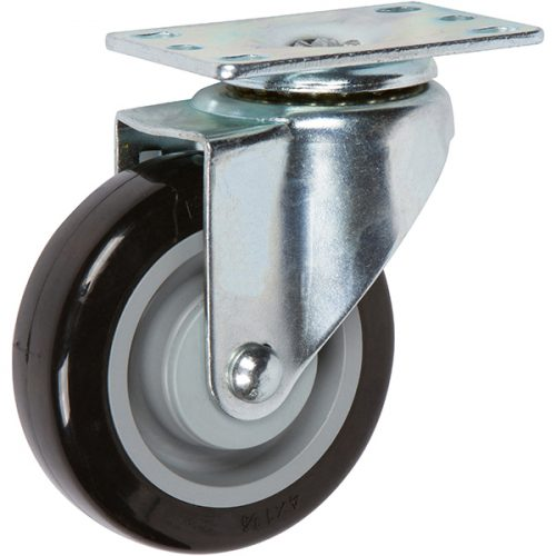 "SWIVEL - 4''x 1-1/4"" Light Medium Duty Swivel Caster with a Non Marking Polyurethane wheel"