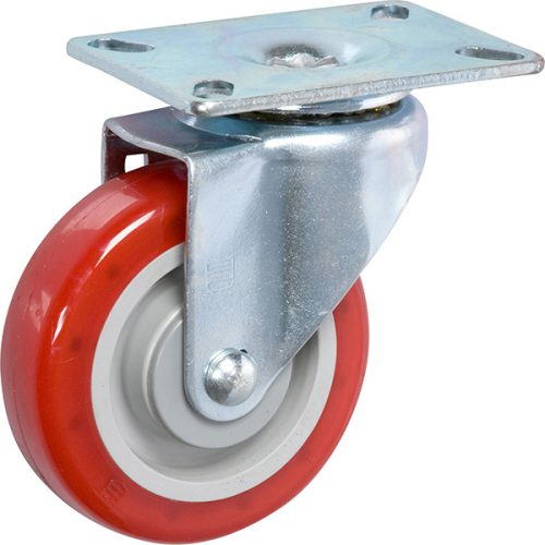 "4''x 1-1/4"" Light Medium Duty Swivel Caster with a Non Marking Polyurethane wheel"