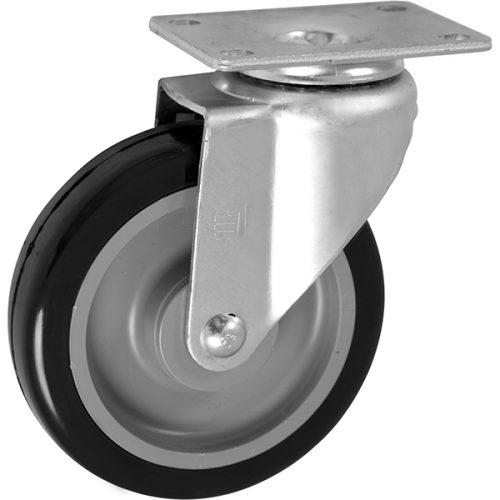 "SWIVEL - 5''x 1-1/4"" Light Medium Duty Swivel Caster with a Non Marking Polyurethane wheel"