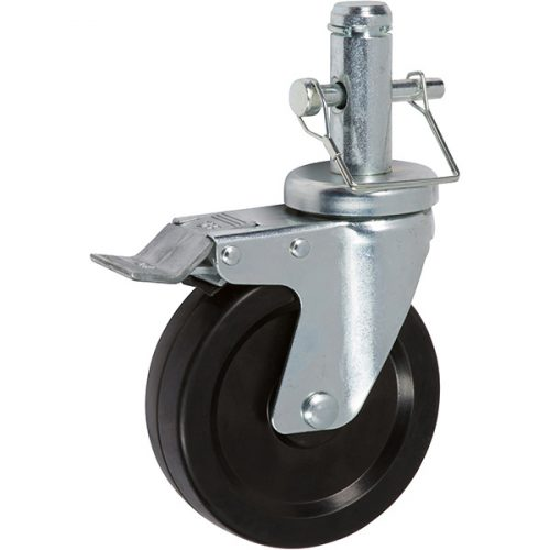 """5"""" Mini Scaffold Caster with Total Lock Brake and Snap Pin"""