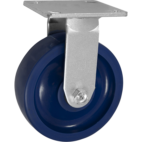 6 Inch Iron Caster Wheels with Blue Casters and Non Marking Caster Wheels