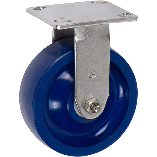 Heavy Duty 6 inch Blue Caster with Rigid Caster (Blue)