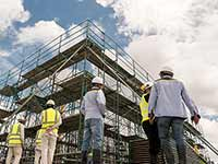 Construction casters